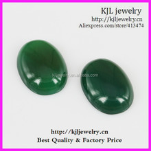 KJL-BD5336 Wholesale Natural flatback egg shape apatite emerald Gemstones lose beads 7X18X25mm