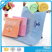 Stocklot cheap plain dyed jacquard velour towel for bathroom