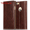 Retro folio leather book cover with credit card holder and kickstand for iphone6 case