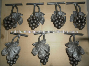 cheap wrought iron gate grape leaf