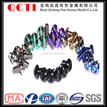 decorative screw fasteners with different color in nuts