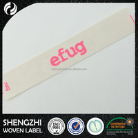 wholesale brand name logo printing label custom fabric woven label