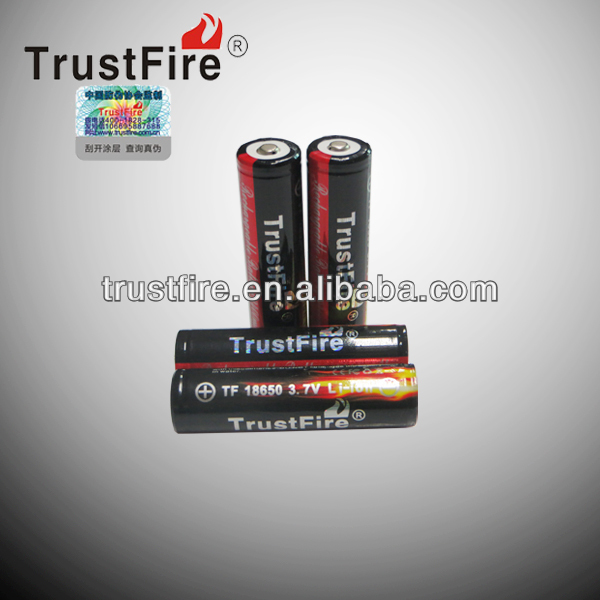 Patent design 3.7v TrustFire18650 accu battery 2400mah battery lipo e-cigarette battery