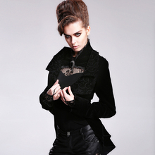 Devil fashion 2015 winter PUNK gothic coat black made in China CT016