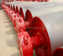 Belt conveyor bend drum pulley