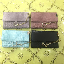 woven pu leather ladies fancy purses hand purse with key holder