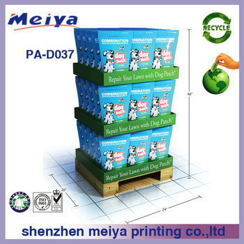 3 Layers Promotional Cardboard Pallet Tray Display for milk box