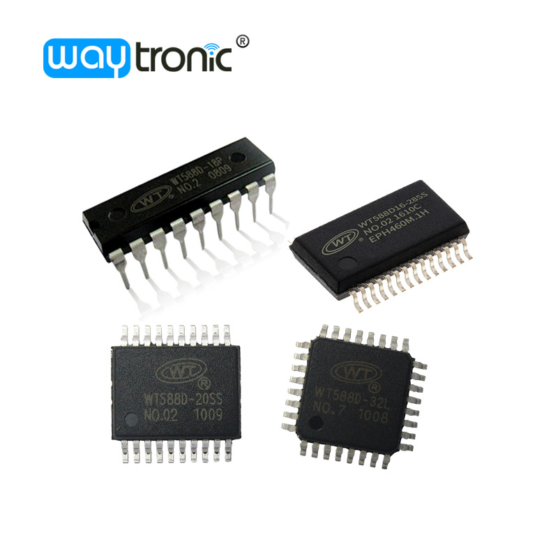WT588D DIP18 SSOP20 SSOP28 LQFP32 multitime programmable music IC voice chip