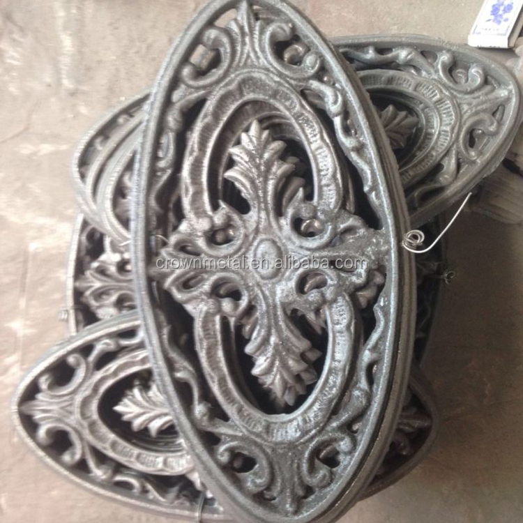 Faroe Islands Wrought iron accessories Factory direct iron gate fitting , guardrail plate processing Serial flower cast Iron