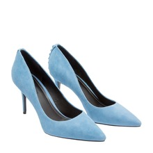 High quality suede blue stiletto heel ladies shoes new