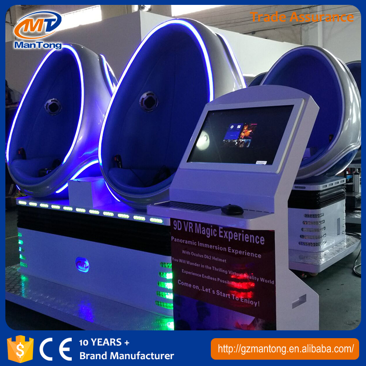 Indoor Amusement park Metal screen motion single seat 3D motion movies 5D 7D 9dvr egg cinema simulator from Mantong