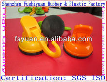 47 58mm vacuum drawing strong super market silicone rubber suction cup sucker with plastic bathroom sucker with lock