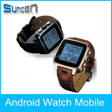 Fashion watch mobile phone Touch Screen Bluetooth Smart android pocket Watch Phone