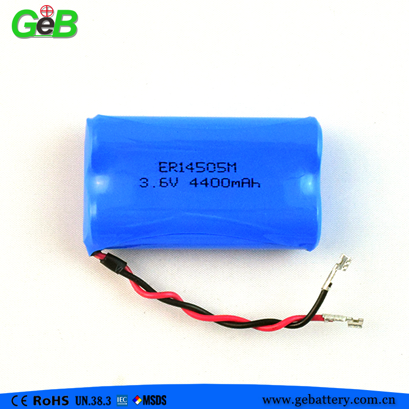 Dry Cell 3.6v Lisocl2 Lithium Battery AA ER14505H 2700mAh