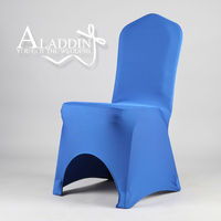 royal blue spandex lycra large chair cover for wedding decor hotel or house use