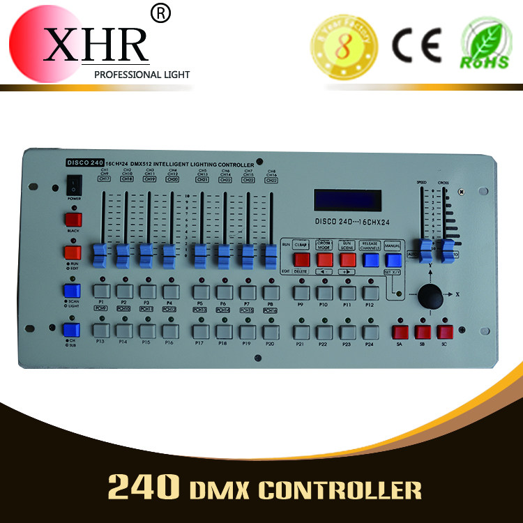 DMX Stage Laser LED Light Console, Mini 240 DMX Lighitng Controller For DJ