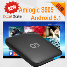 Newest Amlogic S905 TV Box Quad Core 64-bit A53 2.0Ghz Android Internet Streaming TV Box, Amlogic s905 Q9