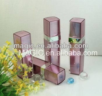 Top Selling 30.50ml Square acrylic lotion Bottles acrylic lotion pump bottles fancy lotion bottles