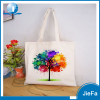 Coloured drawing fashion cotton tote bags for 2015 promotion