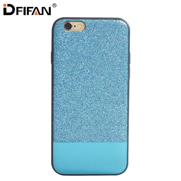 Aluminium hybrid for iphone 6 plus case leather back cover protective covers for iphone 6s plus mobile phone cover