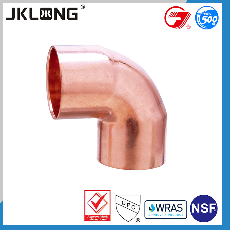 copper pipe fitting 90 degree elbow for refrigerator and air conditioning