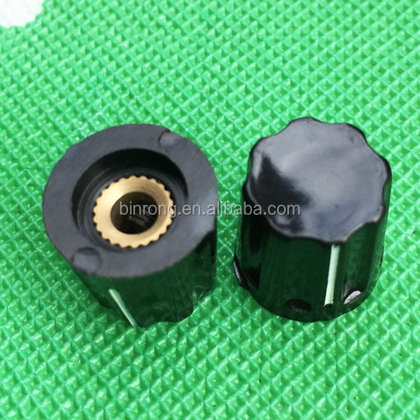 <strong>K16</strong>-02 Rotary Switch Bakelite pointer knob-D15mmXH116mm-4mm Shaft