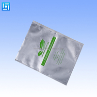 Three side seal laminated aluminum foil mylar bags clear window food ziplock bags wholesale