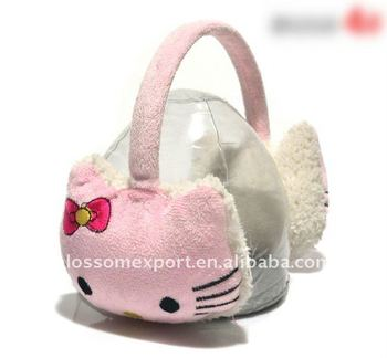 New design hello kitty ear warmers for girls