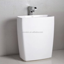 high quality pedestal basin toilet basin round freestanding basin, freestanding wash basin,hand wash basin with pedestal