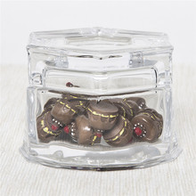 Eco-friendly Glass Honey Canister Jar Transparent Embossed Glass Jar With Lid/Glass Box for Gift