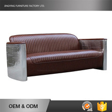 Living Room Furniture Three Seater Lounge Aviator Leather Tomcat Sofa