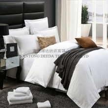 hotel bed linen plain white