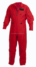 Safety aramid fire retardant military red flight suit