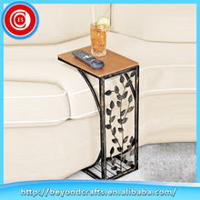 Simple design hand carved small sofa wood desktop modern coffee table