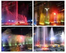 new product dancing outdoor water fountain with LED