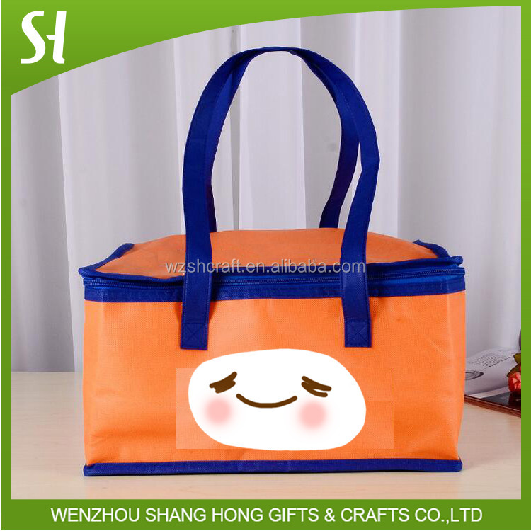 aluminum cooler bag thermal bag/orange cool carry cooler bag lunch
