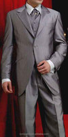 2015 hot men's silver grey 1 button tuxedo dress suits