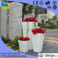 foshan Modern garden decoration vase LED wedding flowers pot factory