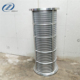 stainless steel wedge wire rotary drum screen for screw press horse manure dewatering machine