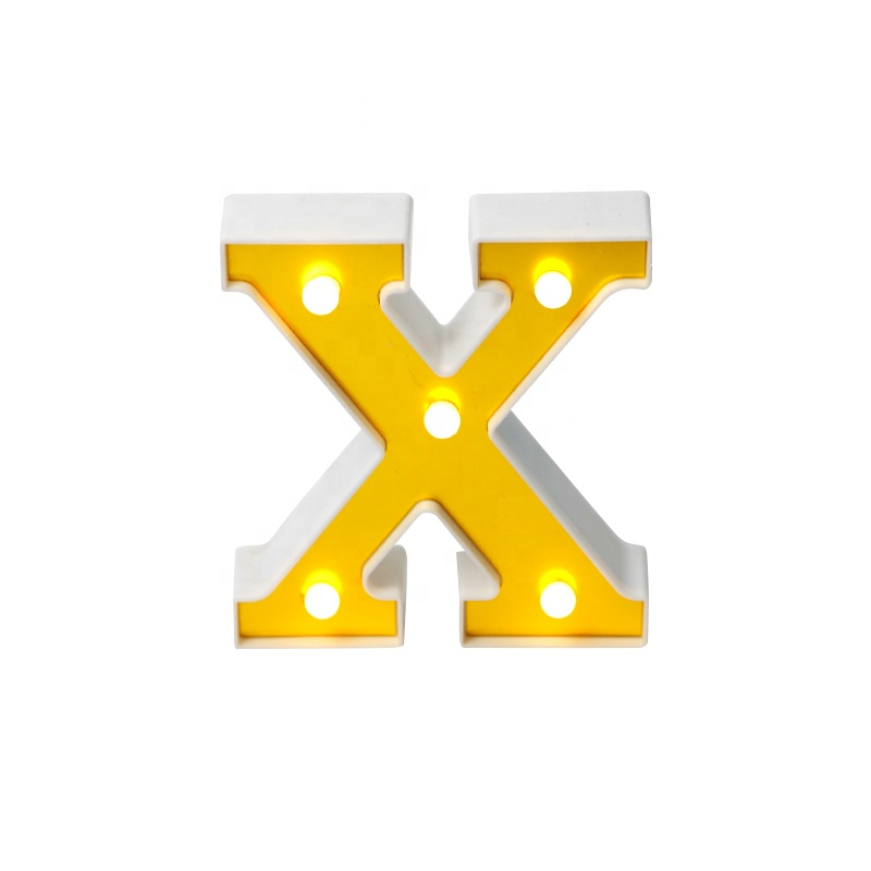 X shape night light room wedding festival decorative table decoration plastic 3d light box letter <strong>sign</strong>