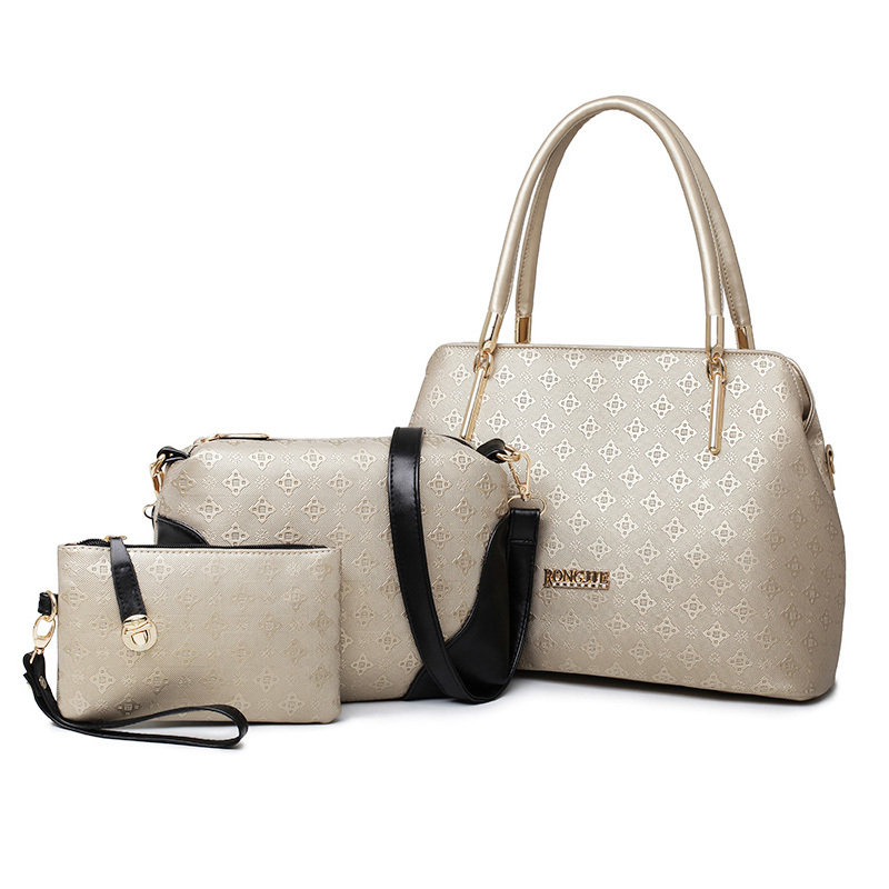 Wholesale Hot Sale 3 Pcs In 1 Set Embossed Handbags For Women