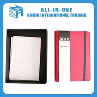Good quality universal manual imitation leather business notebook