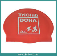 High quality Soft silicon swim hats