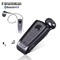 High Quality F910 Retractable Wireless Invisible Stereo Silicone Bluetooth Ear Buds