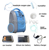Lovego Driving portable oxygen concentrator LG101 medical home oxygen machine 5L of oxygen mute shipping