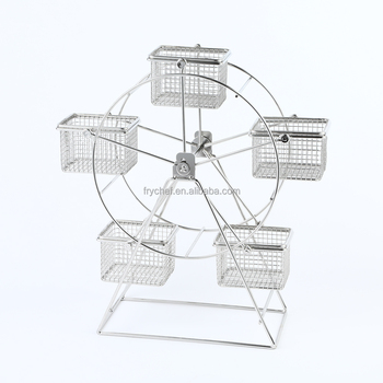 Metal Rotating Ferris Wheel Cupcake and Dessert Stand Holder , Party Birthday Wedding food holder F0078