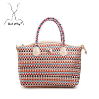 latest design fashion nylon ribbon woven handbag