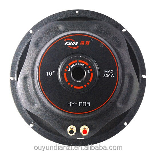 10 Inch 50 oz Big Bass Speaker Type Subwoofer