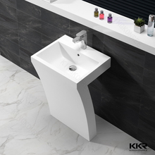 White color pedestal sinks for garden/Cheap price bathroom basin/America standard pedestal bathroom sink