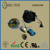 CE ROHS 220V 12V 24V 50/60Hz single phase toroidal power transformer, toroid transformer